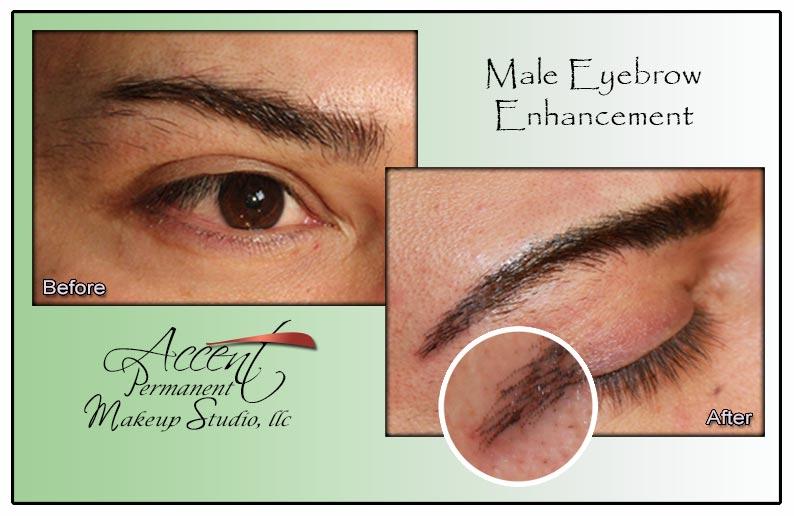 Permanent makeup eyebrows for Eyebrow tattoo men