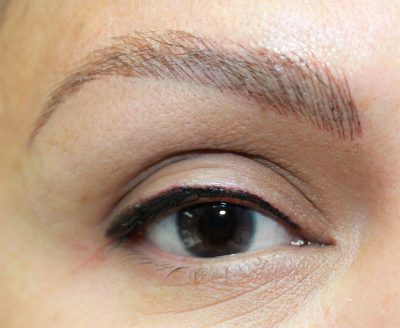 Microbladed brows and eyeliner