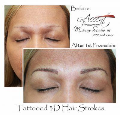 3d hairstrokes (microblading )natural looking