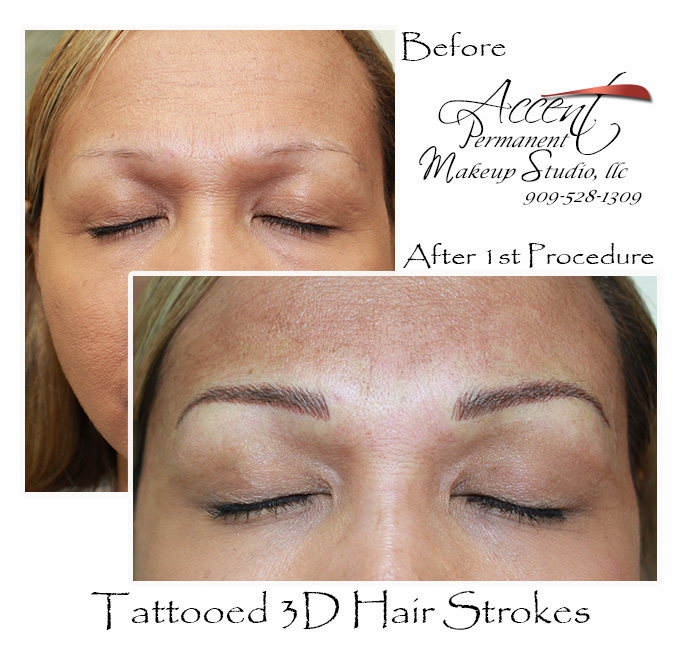 3d hairstrokes (microblading )natural looking
