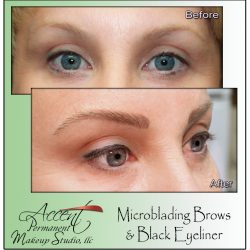 MICROBLADED BROWS AND PERMANENT EYELINER