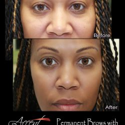 African American Client with Microbladed Brows.