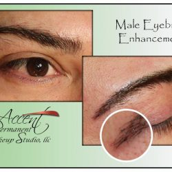 EXAMPLE OF MALE BROW ENHANCEMENT WITH THE ADDITION OF HAIRSTOKES